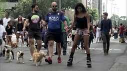 Fechamento da Avenida Paulista nos fins de semana cria uma gigantesca área de lazer