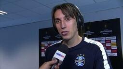 Geromel comenta vitória sobre o Botafogo e diz que sentiu dificuldade na volta de lesão