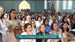 Familiares e amigos fazem missa em homenagem à médica Milena Gottardi