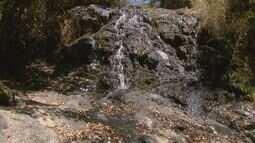 Estiagem reduz vazão de cachoeiras de Águas da Prata