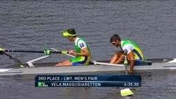 Brasil conquista o bronze na categoria dois sem peso leve do Mundial de remo