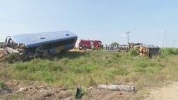 Três pessoas continuam internadas depois do acidente na BR 421 em Ariquemes
