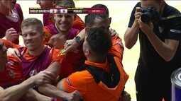 Os gols de Carlos Barbosa (3) 3 x 0 (0) Minas pela Liga Nacional de Futsal
