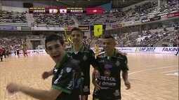 Os gols de Jaraguá 2 x 4 Marreco pela Liga Nacional de Futsal