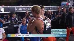 Tin Srbic leva 14.433 e é campeão da barra fixa pelo Mundial de Ginástica
