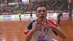 Os gols de Atlântico Erechim 1 x 1 Joinville pela Liga Nacional de Futsal