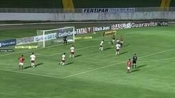 Reis cruza, e Diones cabeceia pra defesa de Danilo Fernandes, aos 25' do 2º tempo