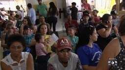 Pacientes reclamam de fila para serem atendidos em Cais de Aparecida de Goiânia