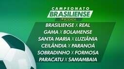 Confrontos da Primeira fase do Campeonato Brasiliense são sorteados