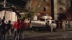 Ventania surpreende moradores de Santos