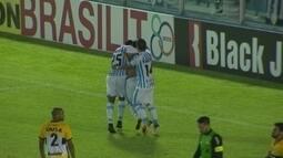 O gol de Paysandu 1 x 0 Criciúma pela 32ª rodada da série B do Brasileirão