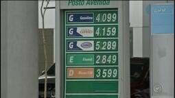Gasolina volta a subir e está custando em média R$ 4 na região