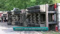 Adolescente de 17 anos de Turvo morre em acidente na PR -151