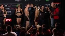 Belal Muhammad e Tim Means passam pela pesagem do UFC Austrália