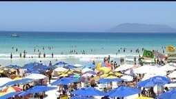 Movimentação de turistas faz rede hoteleira em Cabo Frio, RJ, bater em 90%