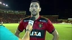 Diego Souza comenta vitória do Sport sobre o Bahia