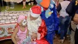 PRF realiza ação com crianças em tratamento no Hospital de Câncer de Mato Grosso