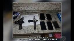 Durante o procedimento de revista aos visitantes, agentes prisionais apreenderam armas
