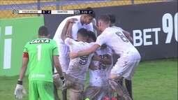 Os gols de Figueirense 1 x 3 Santos pela 3ª fase da Copa SP de Futebol Júnior 2018