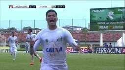 Os gols de Atlético-PR 0 x 2 Santos pelas oitavas de final da Copa São Paulo