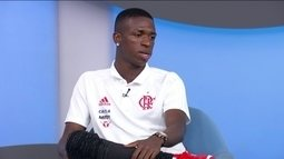 Vinicius Junior diz que ficou muito feliz com chegada de Julio César