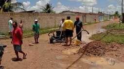 Em Ceará-Mirim, água da chuva causa estragos no conjunto Paraíba