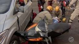 Motociclistas ficam feridos em acidentes em Campo Grande