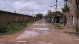 Chuva piora situação em rua no Gama Lins, em Maceió