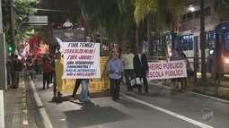 Cidades da região têm protestos contra a reforma da Previdência