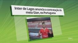 Inter de Lages anuncia a contratação do meia Gian, ex-Portuguesa