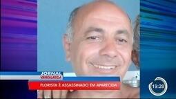 Polícia investiga assassinato de vendedor de flores em Aparecida