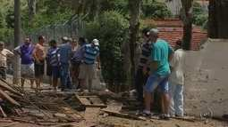 Caminhão tomba e bois que eram transportados invadem escola em Auriflama