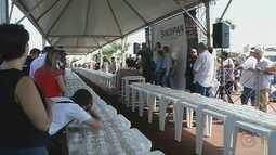Aniversário de Rio Preto tem distribuição de 8 mil pedaços de bolo
