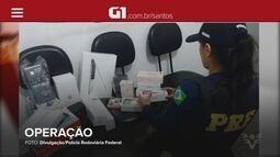 G1 em 1 Minuto: Polícia Rodoviária Federal realiza operação no Vale do Ribeira