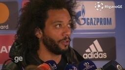 Marcelo fala sobre partida contra e a classificação para as semis da Liga dos Campeões