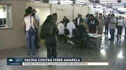 Vacina contra febre amarela está disponível em nove estações de metrô