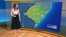 Quinta-feira (19) deve ser com predomínio de tempo firme e temperaturas altas no RS
