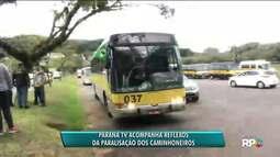Paraná TV acompanha todos os reflexos da paralisação dos caminhoneiros