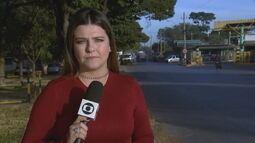 Saída de caminhões de combustível no Setor de Inflamáveis, em Brasília