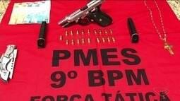 Homem é preso em flagrante com arma e munições em Cachoeiro, no Sul do ES