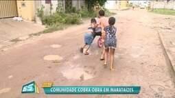Calendário ESTV: moradores de Marataízes sobram obra de pavimentação