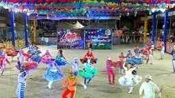 Festival de Quadrilhas Juninas de Natal movimenta área externa da Arena das Dunas