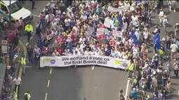 Manifestação com milhares de pessoas marca dois anos do referendo do 'Brexit'