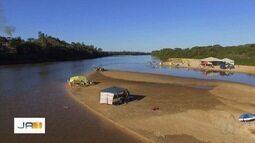 Turistas aproveitam periodo de férias para pescar no Rio Araguaia