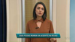 Duas pessoas morrem em acidentes na região de Ponta Grossa