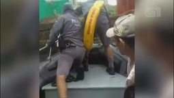 Pescadores são resgatados em ilha após rajadas de vento de 80 km/h