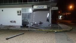 Quatro agência bancárias foram arrombadas com explosivos durante a madrugada no estado