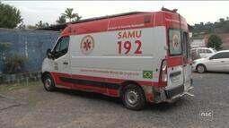 Com três viaturas em manutenção, Samu opera com apenas uma ambulância em Blumenau