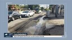 Moradores de Campo Grande reclamam de esgoto escorrendo nas ruas