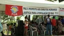Ação no centro de Maceió lembra Dia Nacional de Luta da População de Rua